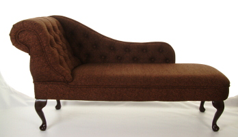 Chaise longue in luxurious colour fabrics for Black damask chaise longue