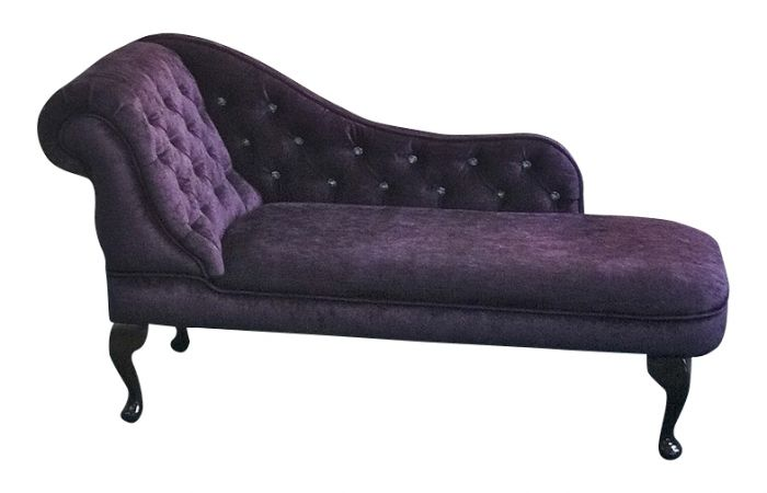 Chaise longue in luxurious colour fabrics buttoned for Chaise longues uk