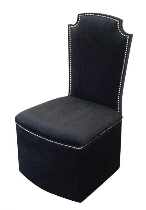 Bedroom Chairs Luxurious Bedroom Boudoir Chair in Black