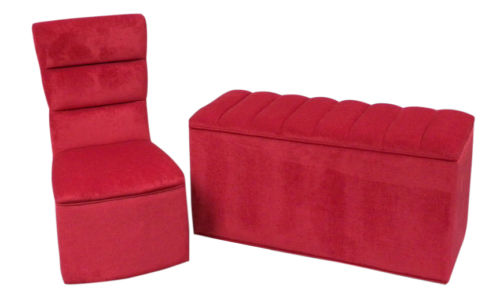 BEDROOM CHAIR/OTTOMAN SET