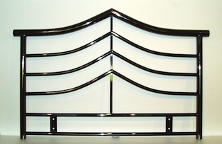 Metal Single Headboard Smoked Chrome finish