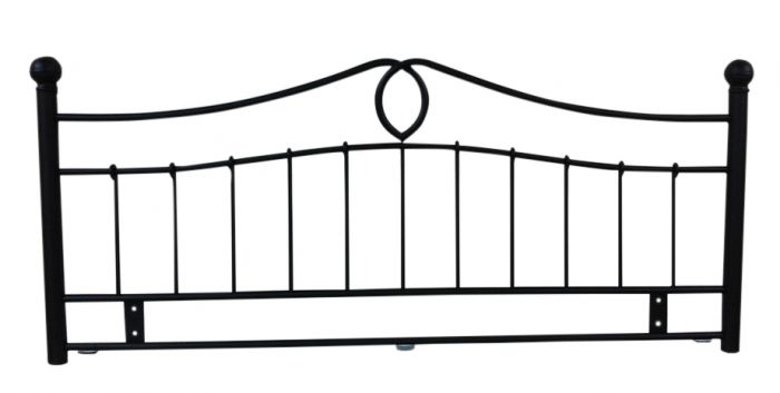 METAL KINGSIZE HEADBOARD BLACK FINISH