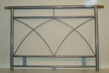 METAL SINGLE HEADBOARD IN ALLOY FINISH