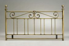 Metal Double Headboard Antique Brassed Finish